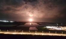 """خلل في منصة الغاز """"ليفياتان"""": انفجارات قوية وشعلة تضيء السماء"""