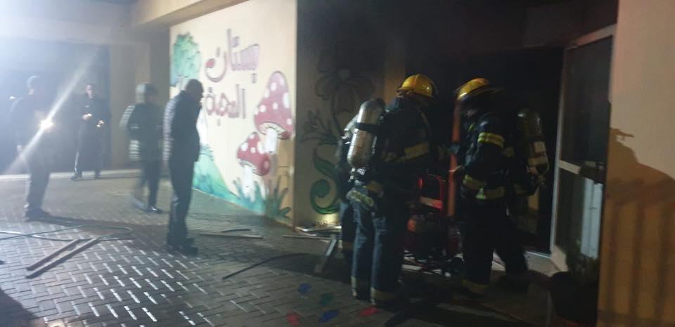 إضرام النار في بستان أطفال بطرعان