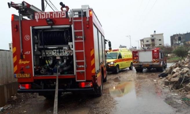 طمرة: إصابة امرأة في حريق منزلي