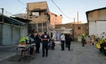 إنقاذ أسرة بعد انهيار مبنى في يافا