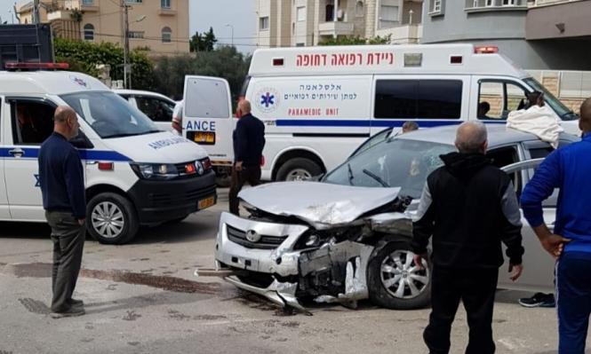 الطيبة: 5 إصابات بينها خطيرة في حادث طرق