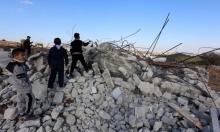 الاحتلال يهدم منزلا في حزما ويجرف أراض في نابلس