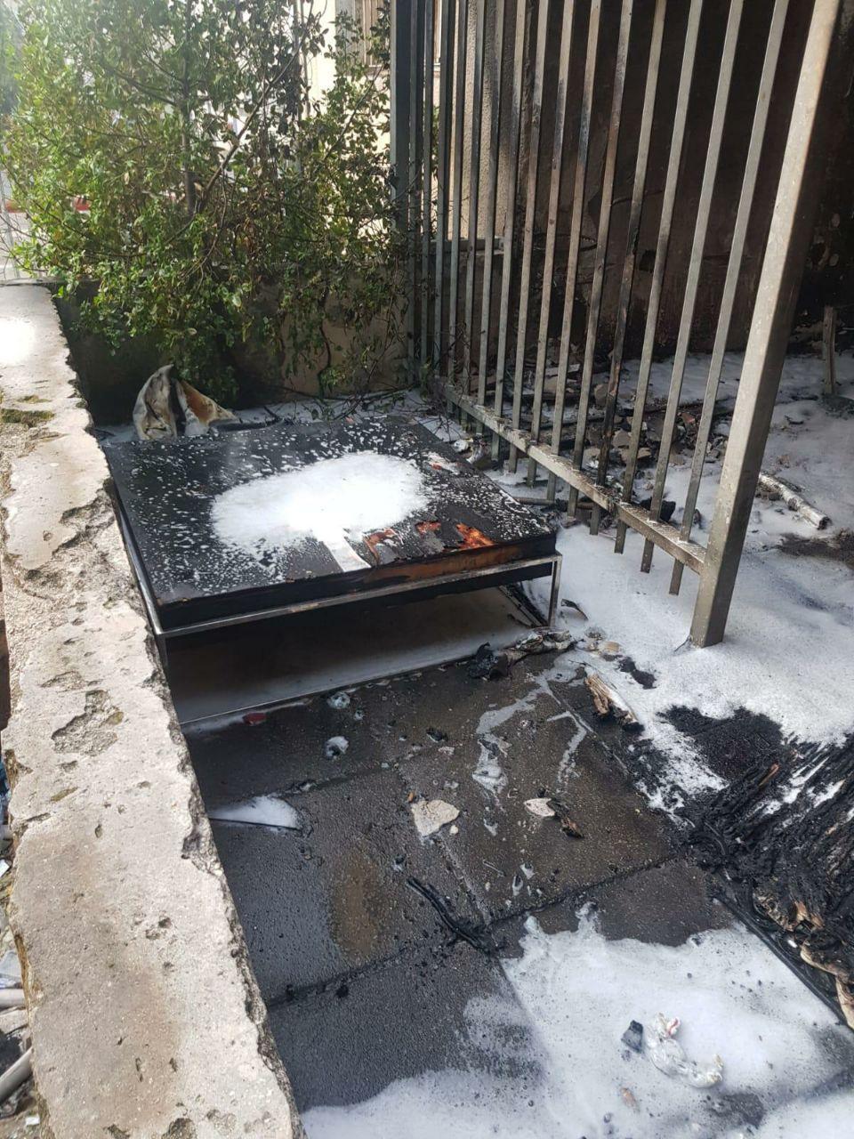 حيفا: اندلاع حريق في بناية سكنية