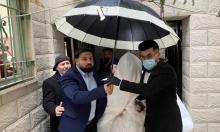 الحب في زمن الكورونا.. فلسطينيان يقيمان زفافهما رغم العزل