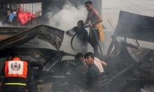 غزة: ارتفاع عدد ضحايا حريق النصيرات إلى 22 مواطنا