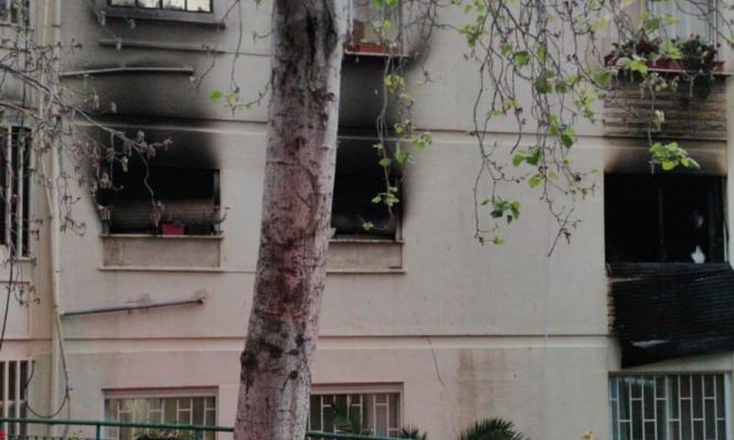 حيفا: 5 إصابات في حريق منزلي