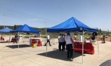 افتتاح محطة فحص الكورونا في وادي عارة