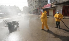تعقيم مصادر المياه في غزة للوقاية من فيروس كورونا