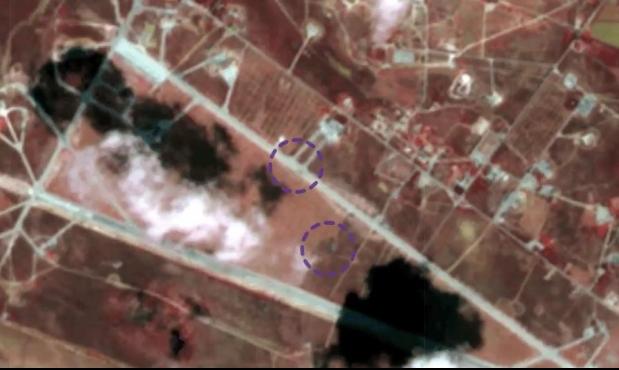 """""""الهجوم الإسرائيلي استهدف 3 مواقع داخل مطار الشعيرات"""""""