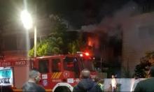 إصابتان في حريق بكفر كنا