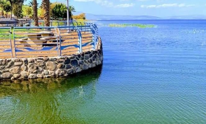 20 سنتيمترا لامتلاء بحيرة طبرية
