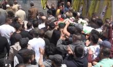 تشييع جثمان الشهيدنور البرغوثي في عابود