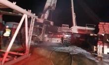 """الجولان: إحراق رافعتين كبيرتين لنصب """"عنفات الرياح"""""""