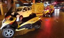 إصابة شاب نصراويّ بجراح خطيرة بحادث انقلاب دراجة نارية