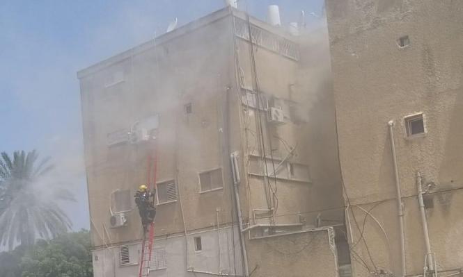 حريق داخل منزل في عكا