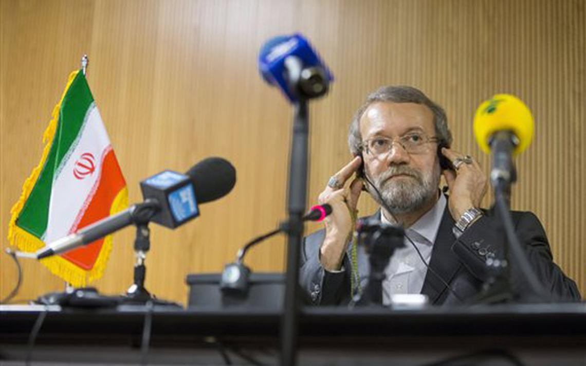 لاريجاني رئس البرلمان 12 عاما (أ ب)