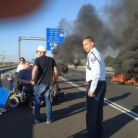 احتجاجات ذوي الاحتياجات الخاصة: إغلاق شارع مركزي بوسط البلاد