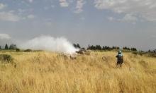 جنود لبنانيون يعترضون دبابتين للجيش الإسرائيلي اجتازتا الحدود