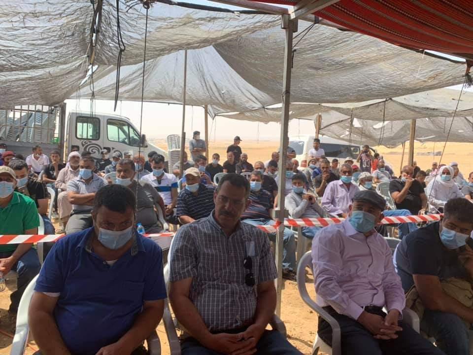 اجتماع قطري لاستعراض سبل التصدي لمخططات التهجير في خربة الوطن