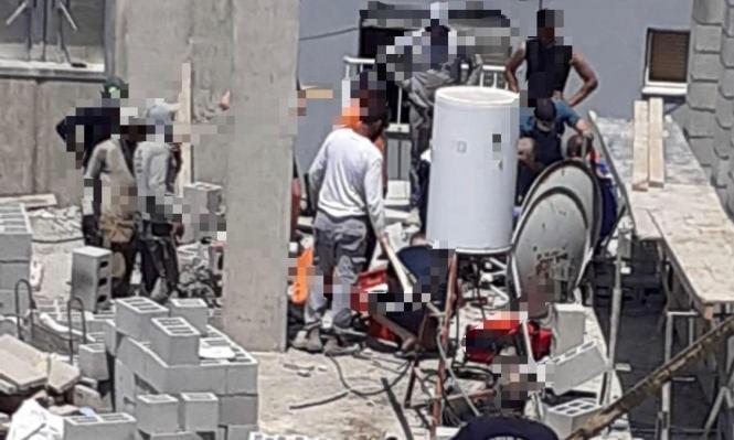 طمرة: إصابة عامل سقط من علو في ورشة بناء