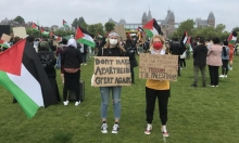 """تظاهرة منددة بالضمّ في هولندا.. """"لا نستطيع التنفس منذ 1948"""""""