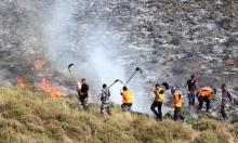 مستوطنون يسرقون ممتلكات بنابلس ويشعلون أراض زراعية برام الله