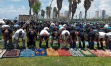 يافا: إقامة صلاة الجمعة أمام مقبرة الإسعاف
