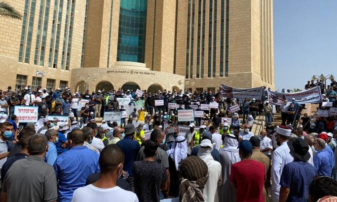 مظاهرة غاضبة لأهالي النقب ضد الهدم والترحيل