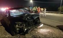 مصابان في حادث طرق قرب بئر المكسور