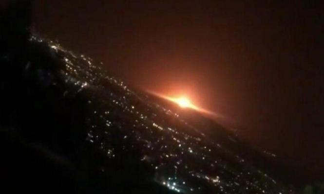 """طهران: دوي انفجار """"رهيب"""" وضوء برتقالي ساطع"""