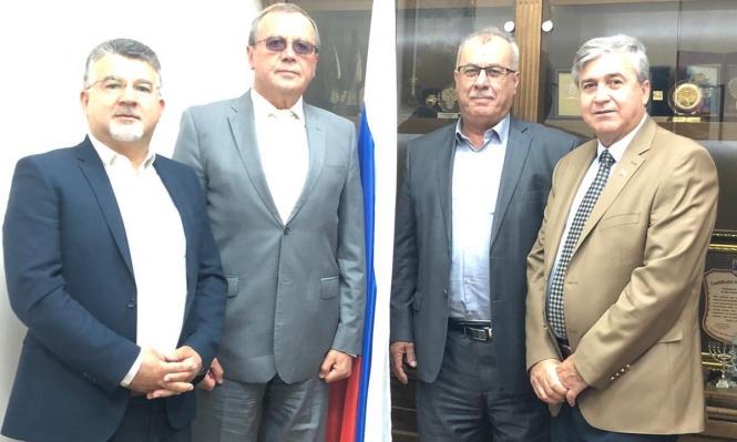 بركة وجبارين يلتقيان بالسفير الروسي للتحذير من مخطط الضم