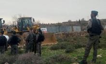 لإقامة مشاريع استيطانية: الاحتلال يواصل عمليات التجريف في وادي الربابة بسلوان