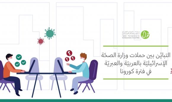 """""""حملة"""" يرصد فجوات إعلام وزارة الصحة بين العربية والعبرية"""
