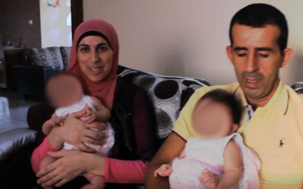 وفاء وزوجها وفرحة إنجاب توأمين بعد 16 عاما من الزواج