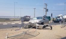 إغلاق شارع عكا- صفد قرب مفرق المكر بسبب حادث طرق