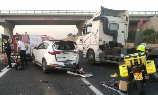 9 إصابات في حادث طرق جنوبي البلاد
