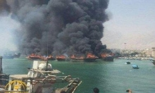 إيران: حريق في ميناء بوشهر واحتراق 7 سفن على الأقل