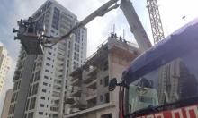 إنقاذ عامل سقط من علو شاهق للطابق الخامس بورشة بناء
