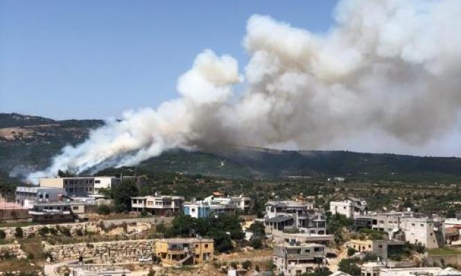 بيت جن: اندلاع حريق في منطقة الزابود