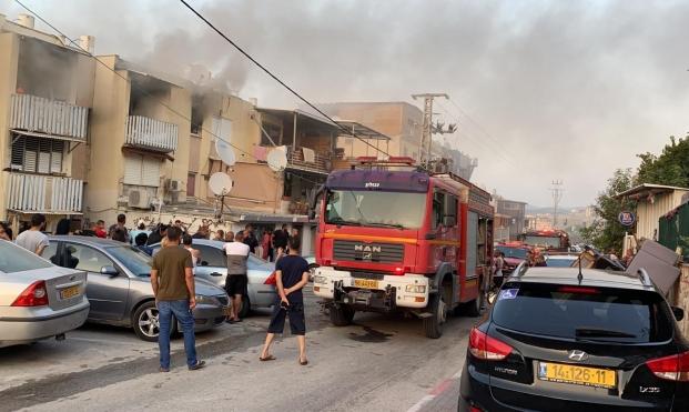 حريق في جديدة المكر: انتشال جثة وإصابة 5 أشخاص