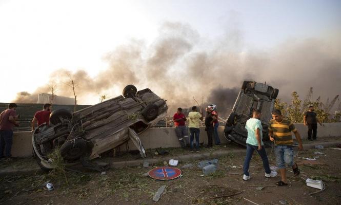 """""""بيروت مدينة منكوبة"""": مئات الضحايا في انفجار هائل"""