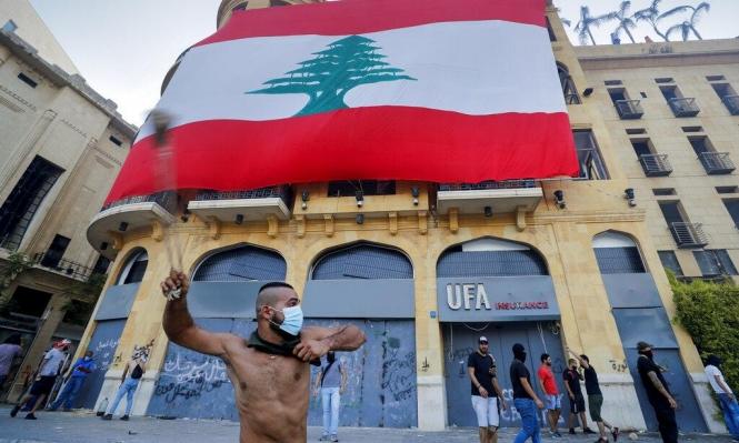لبناني يُنشّن بمقليعته صوب قوات الأمن