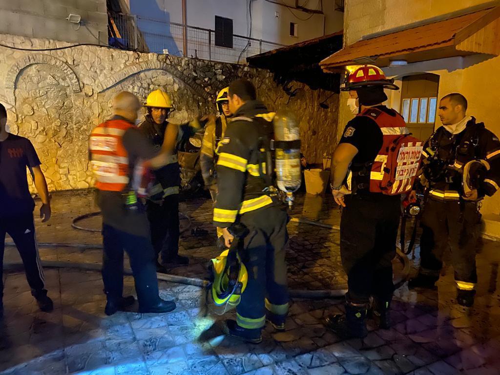 الطيبة: إخلاء منزل مأهول بسبب حريق