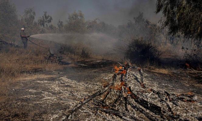 "تصعيد تدريجي: اندلاع 20 حريقا في ""غلاف غزة"""