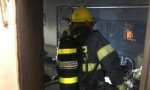 الشيخ دنون: إصابة في حريق ببناية سكنية