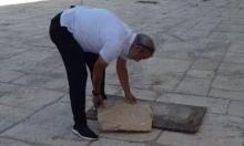 اكتشاف حفرة قرب باب المغاربة في المسجد الأقصى
