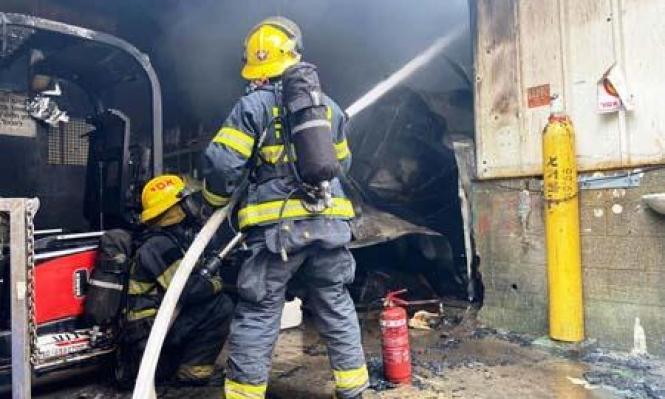 اندلاع حريق في مصنع يحوي موادّ خطيرة جنوبيّ البلاد
