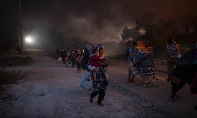 حرائق تدمر أكبر مخيم لاجئين في أوروبا.. أكثر من 12 ألف بلا مأوى