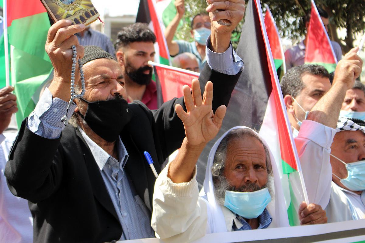 فعاليات احتجاجيّة في الضفةوغزة رفضًا لاتفاقيتي التطبيع