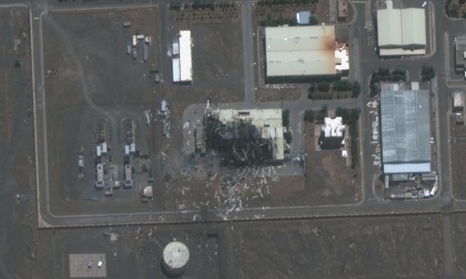 الضرر في مفاعل نطنز (maxar)